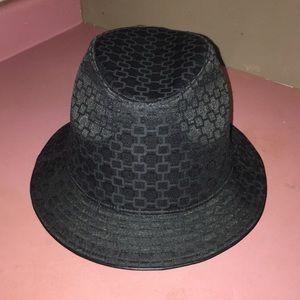 Nine West black material hat